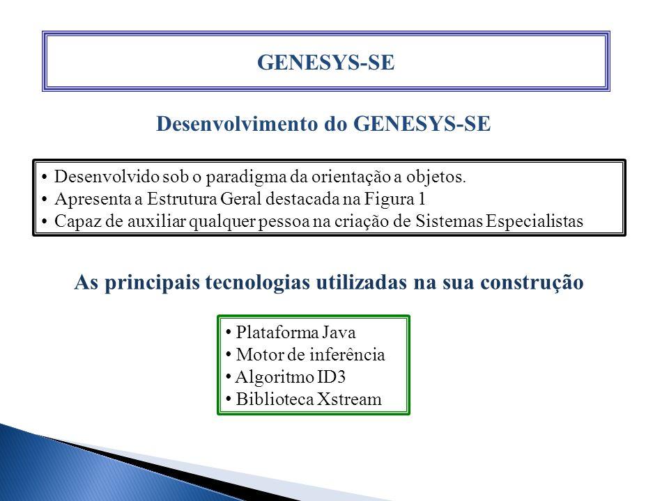 GENESYS-SE Desenvolvimento do GENESYS-SE Desenvolvido sob o paradigma da orientação a objetos. Apresenta a Estrutura Geral destacada na Figura 1 Capaz