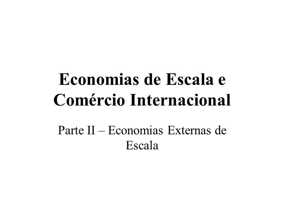Economias de Escala e Comércio Internacional Parte II – Economias Externas de Escala