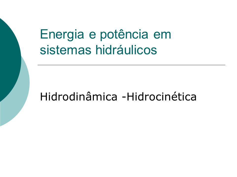Hidrocinética É o estudo das leis dos movimentos dos fluídos e suas efetivas forças.
