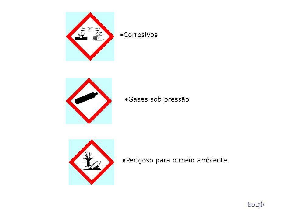 IsoLab Gases sob pressão Perigoso para o meio ambiente Corrosivos