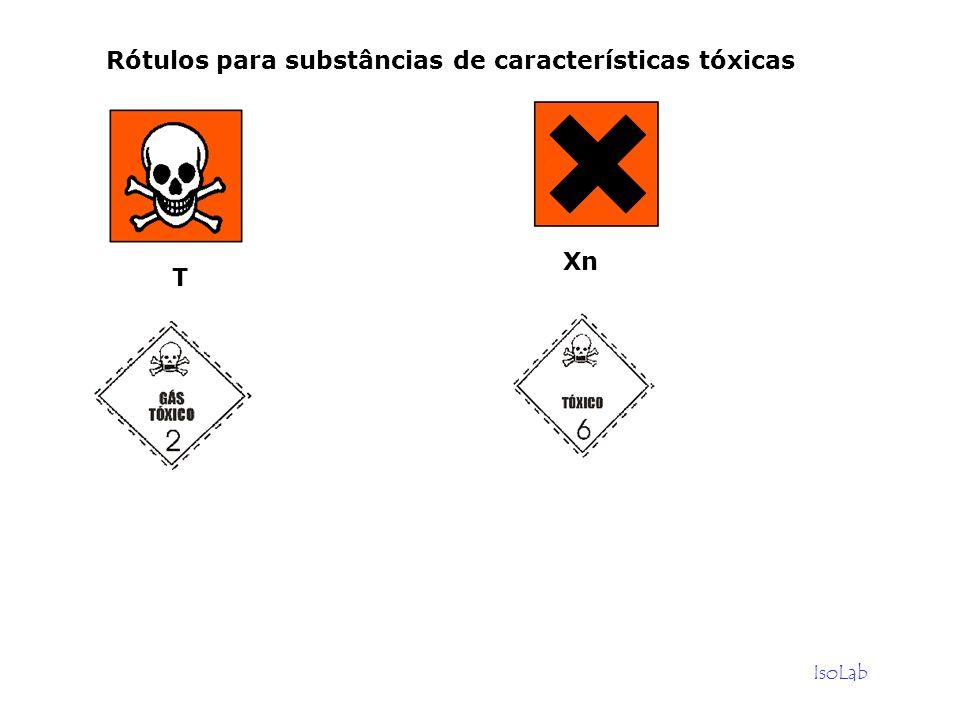 IsoLab Rótulos para substâncias de características tóxicas Xn T