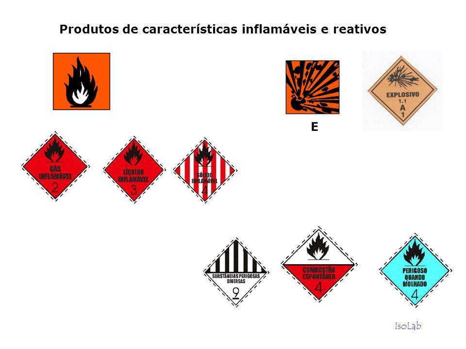 IsoLab Produtos de características inflamáveis e reativos E