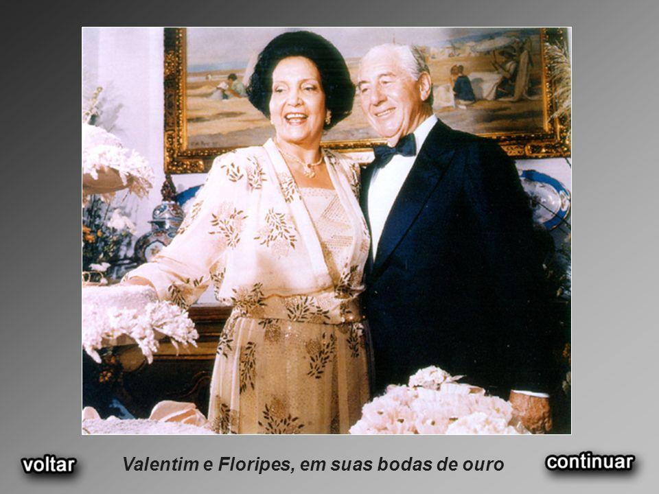 Valentim e Floripes, em suas bodas de ouro