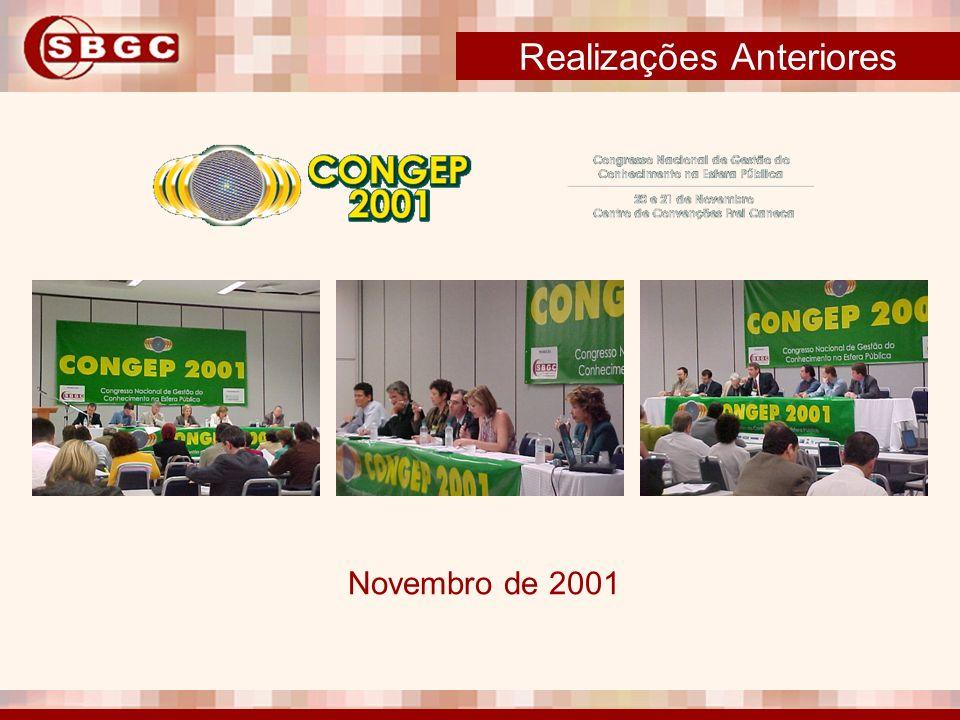 Realizações Anteriores Novembro de 2001