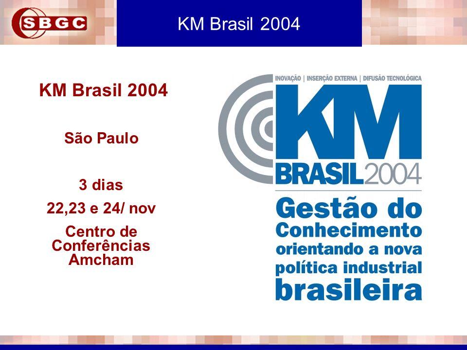 KM Brasil 2004 São Paulo 3 dias 22,23 e 24/ nov Centro de Conferências Amcham