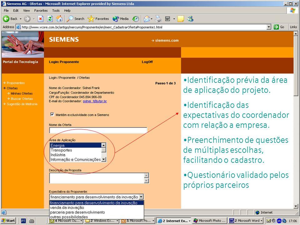 s Corporate Technology GESITI 2004 24/25 de junho Identificação prévia da área de aplicação do projeto.