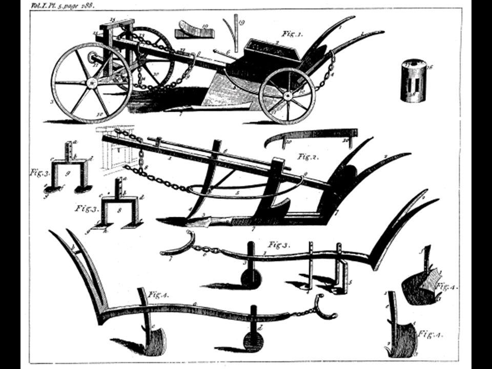 John Deere Em 1837 os problemas com solos orgânicos, induziram JD a desenvolver um arado de aço com uma superfície bem polida e com o formato da aiveca e da relha que deveriam proporcionar uma auto limpeza a medida que o a leiva fosse cortada e invertida.