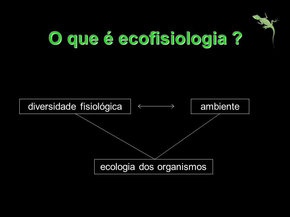 O que é ecofisiologia ? diversidade fisiológicaambiente ecologia dos organismos