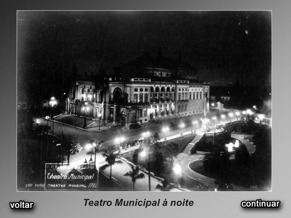Teatro Municipal à noite