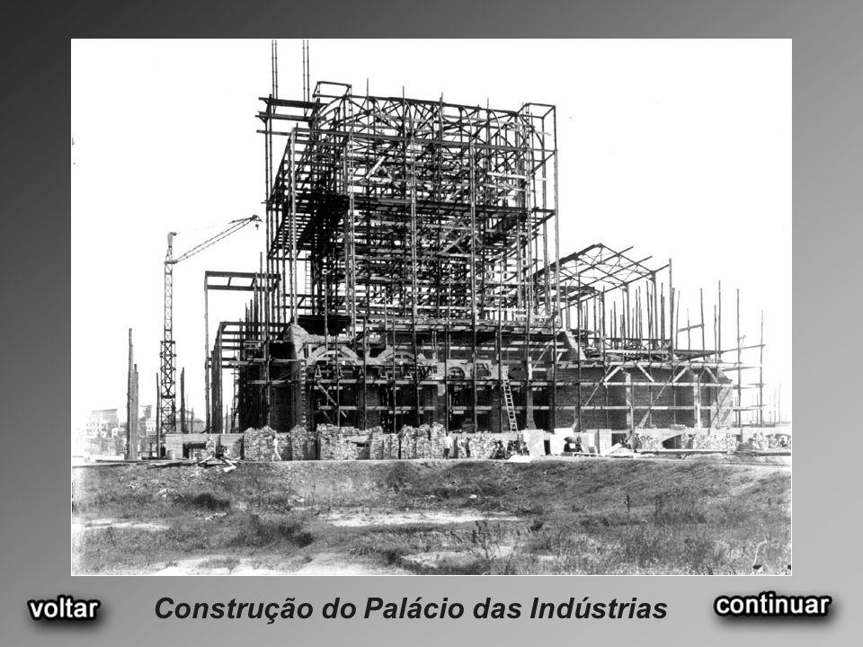 Construção do Palácio das Indústrias