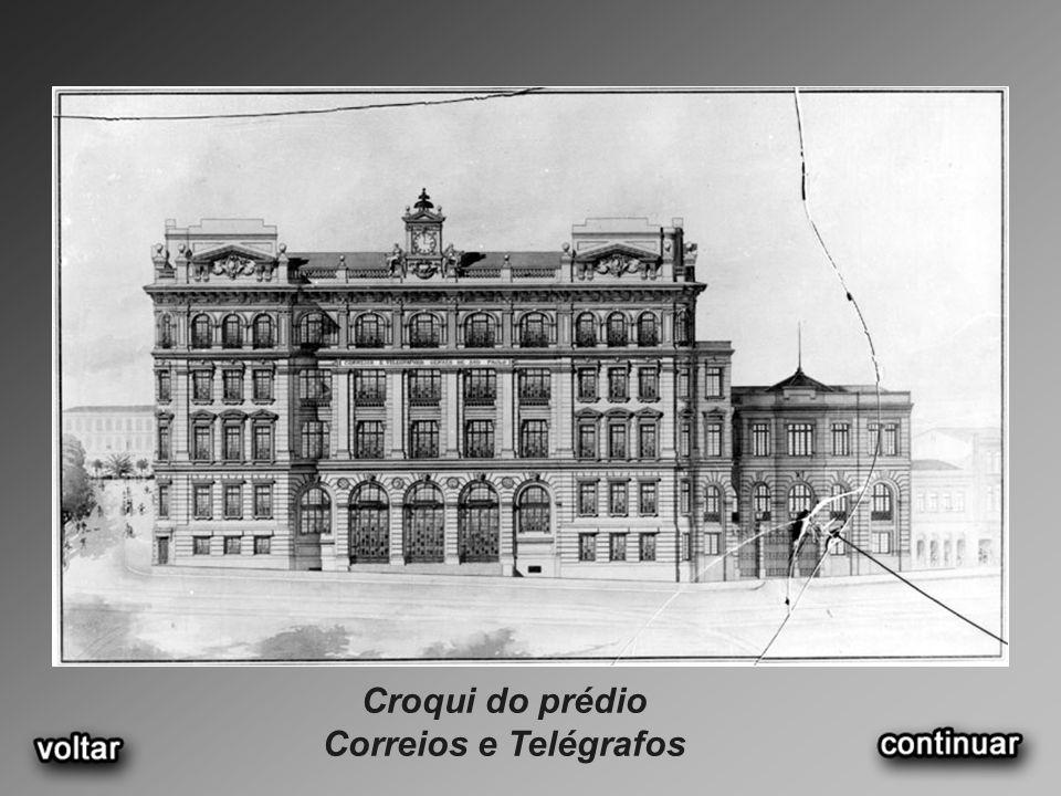 Croqui do prédio Correios e Telégrafos