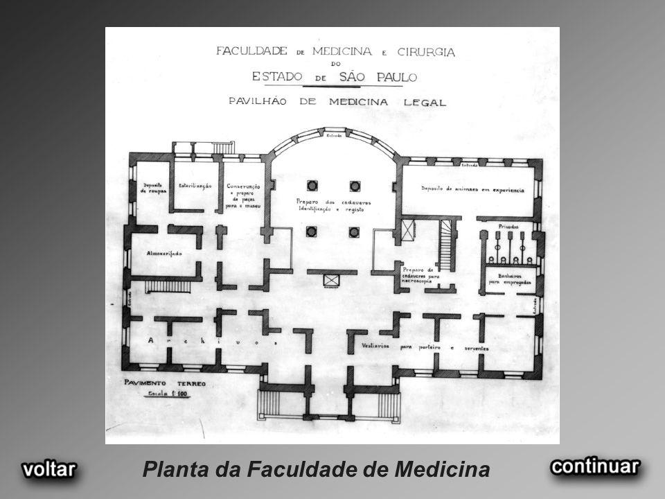 Planta da Faculdade de Medicina