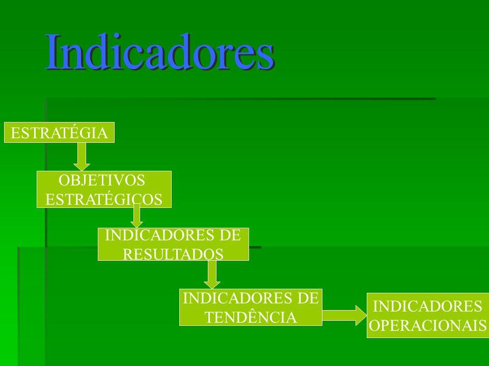 ESTRATÉGIA OBJETIVOS ESTRATÉGICOS INDICADORES DE RESULTADOS INDICADORES DE TENDÊNCIA INDICADORES OPERACIONAIS