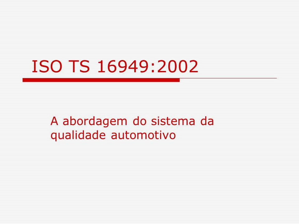 ISO TS 16949:2002 A abordagem do sistema da qualidade automotivo