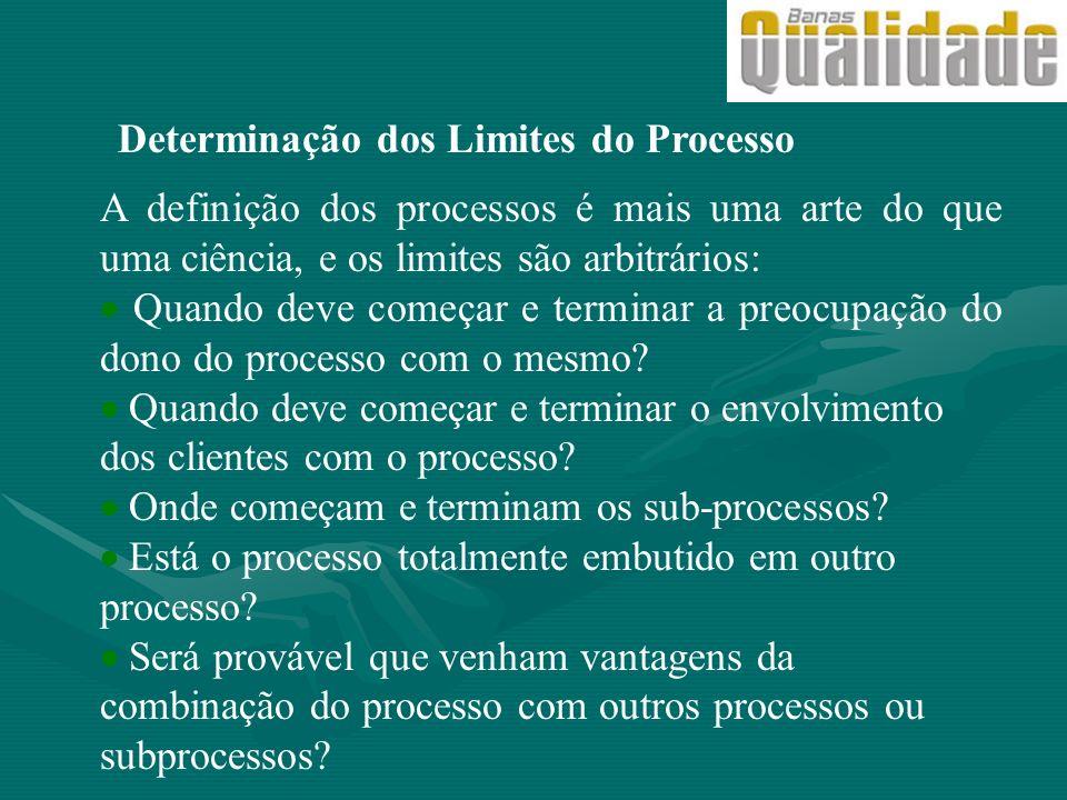 A definição dos processos é mais uma arte do que uma ciência, e os limites são arbitrários: Quando deve começar e terminar a preocupação do dono do pr
