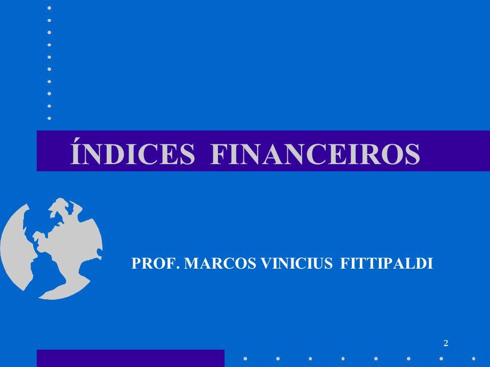 2 ÍNDICES FINANCEIROS PROF. MARCOS VINICIUS FITTIPALDI