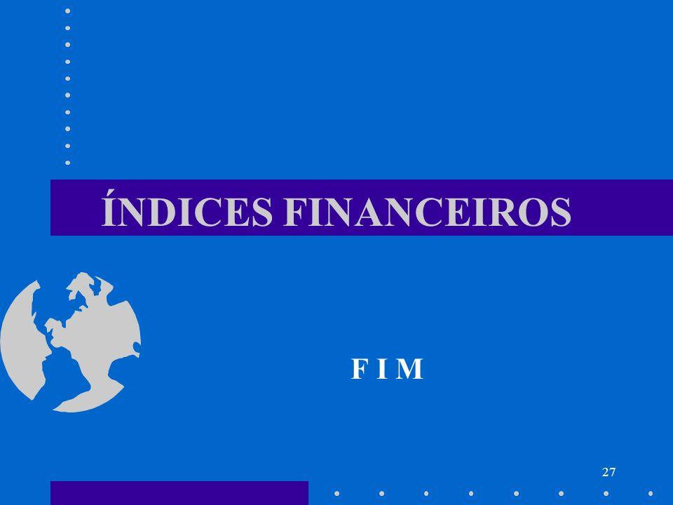 27 ÍNDICES FINANCEIROS F I M
