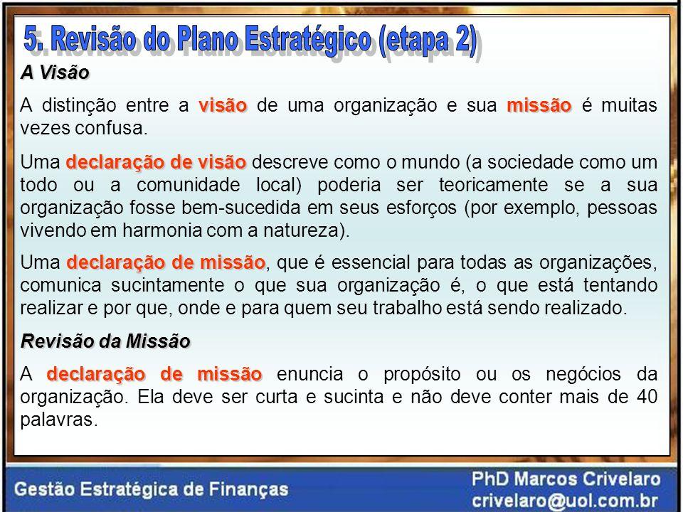 A Visão visão missão A distinção entre a visão de uma organização e sua missão é muitas vezes confusa.