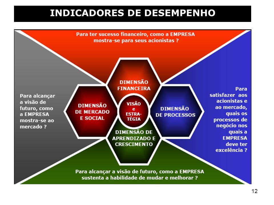 12 INDICADORES DE DESEMPENHO