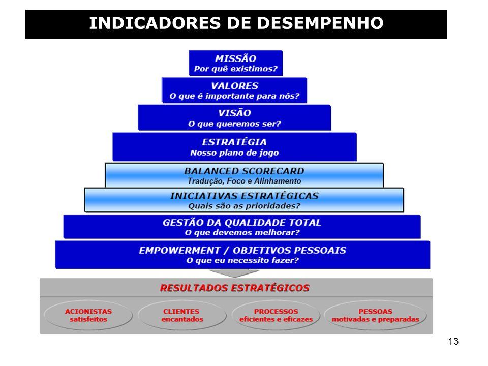 13 INDICADORES DE DESEMPENHO