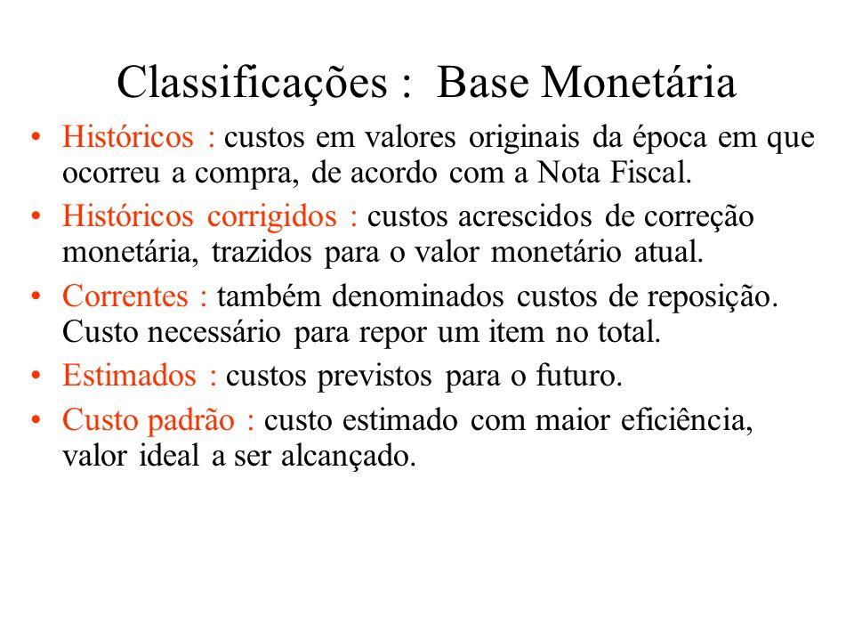 Classificações : Decisões Especiais Incrementais : também denominados diferenciais ou marginais, incorridos adicionalmente em função de uma decisão to