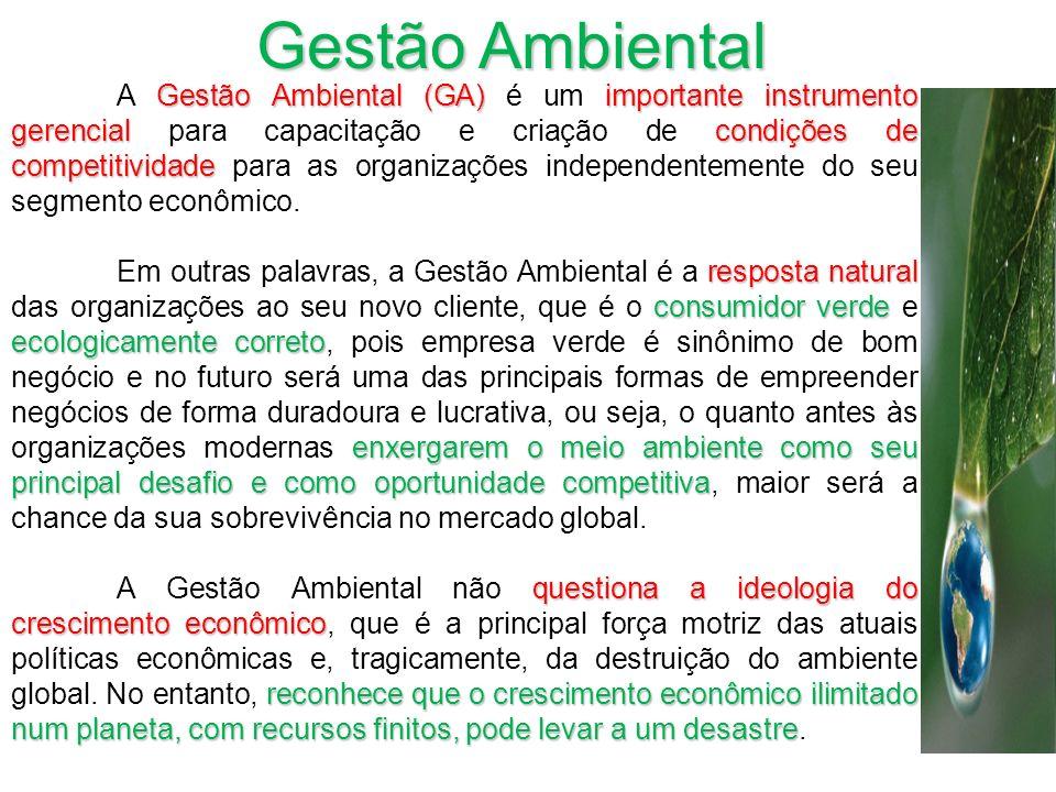 Gestão Ambiental (GA) importante instrumento gerencial condições de competitividade A Gestão Ambiental (GA) é um importante instrumento gerencial para