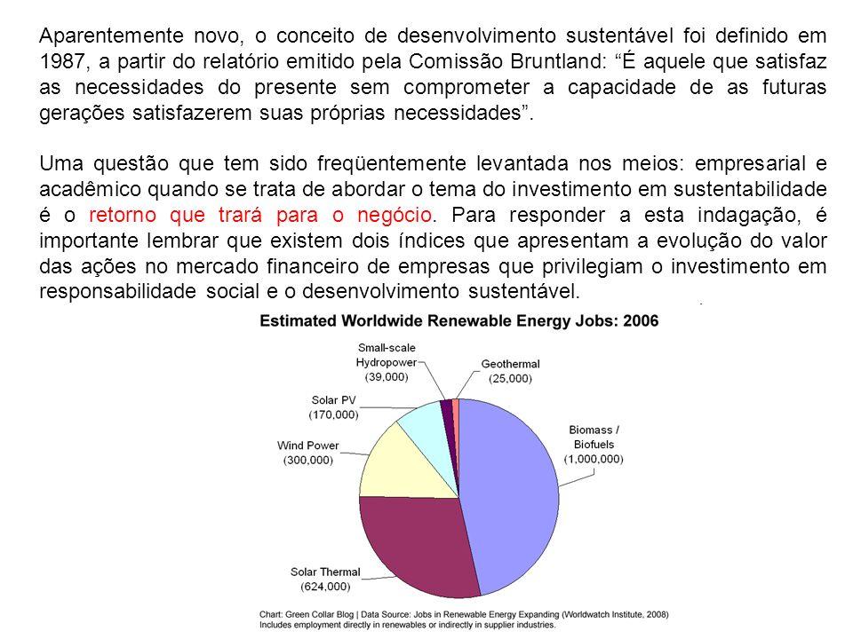 Aparentemente novo, o conceito de desenvolvimento sustentável foi definido em 1987, a partir do relatório emitido pela Comissão Bruntland: É aquele qu