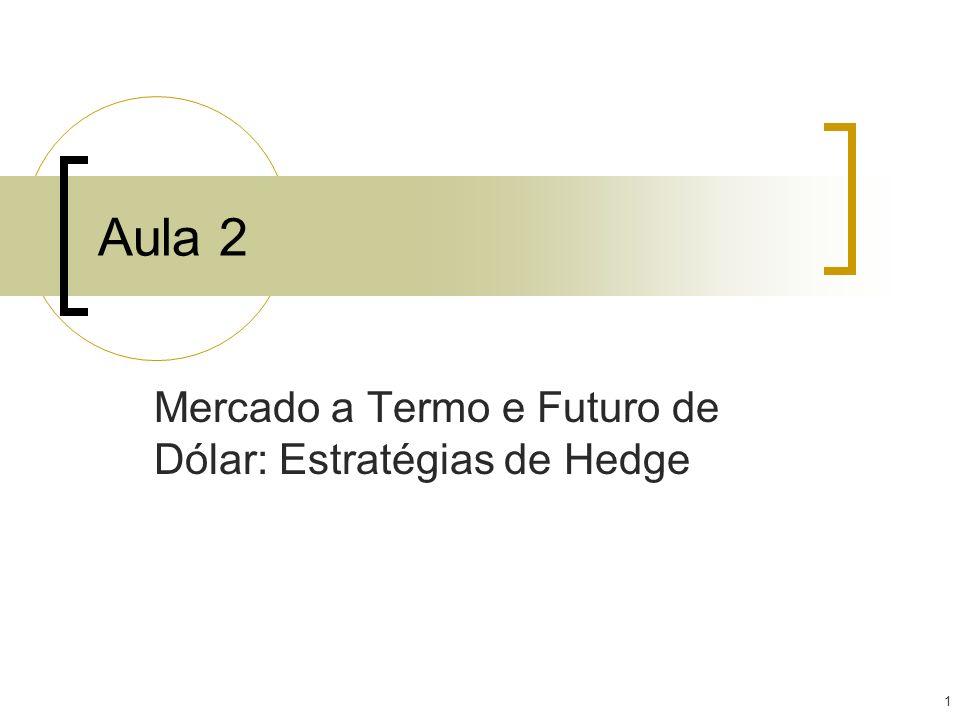 1 Aula 2 Mercado a Termo e Futuro de Dólar: Estratégias de Hedge