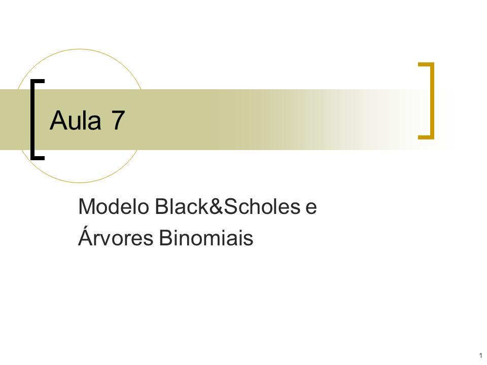 1 Aula 7 Modelo Black&Scholes e Árvores Binomiais