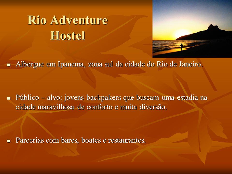 Rio Adventure Hostel Albergue em Ipanema, zona sul da cidade do Rio de Janeiro. Albergue em Ipanema, zona sul da cidade do Rio de Janeiro. Público – a