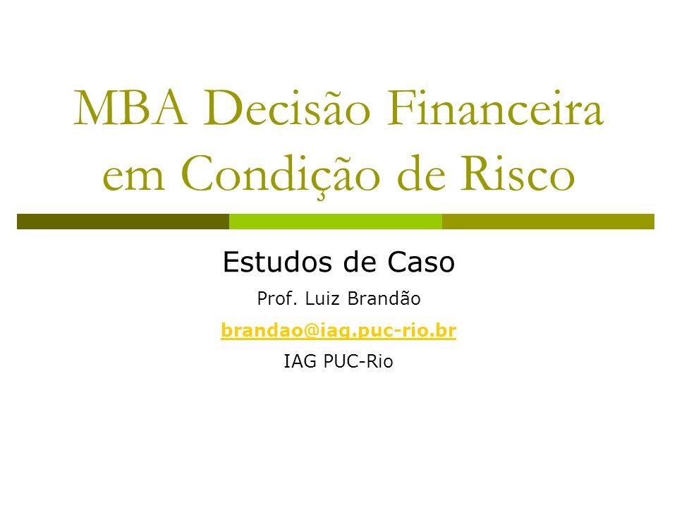 CNO T3 IAG PUC - Rio 22 Biodata: Fluxo de Caixa