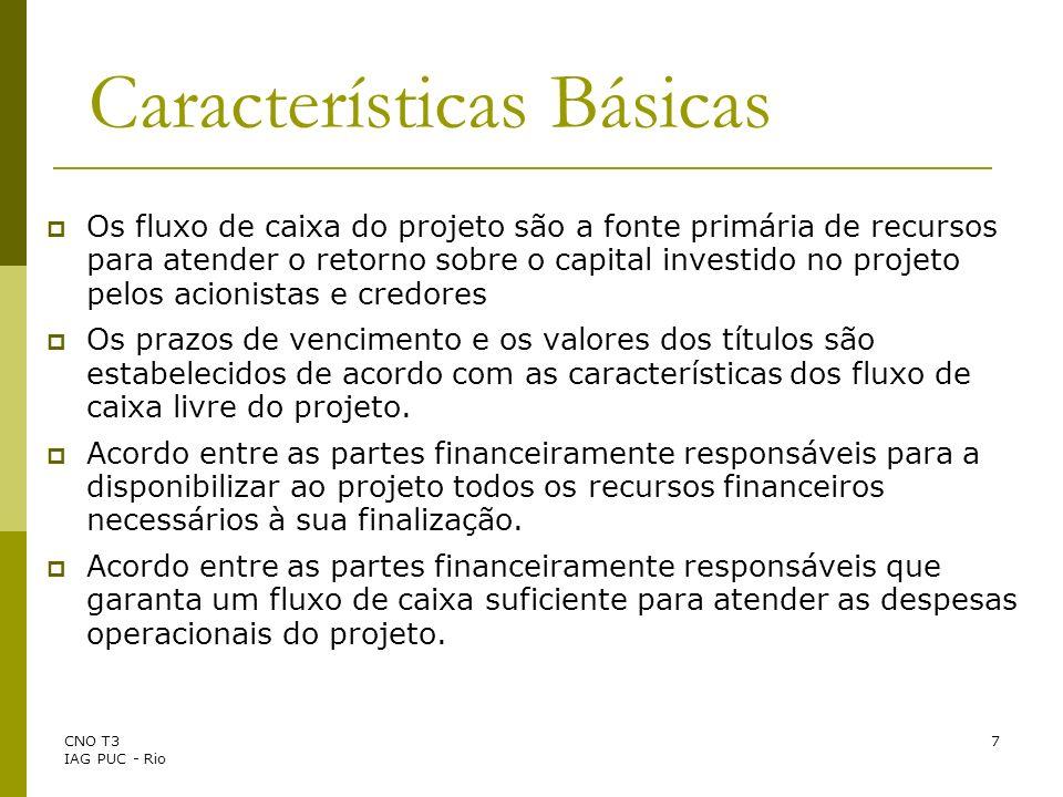 CNO T3 IAG PUC - Rio 18 A Decisão de Investimento Características da Decisão de Investimento O Investimento é geralmente Irreversível.