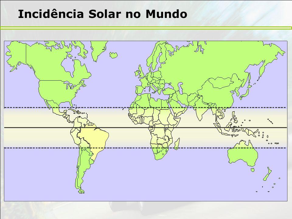 Incidência Solar no Mundo