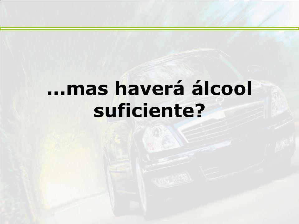 ...mas haverá álcool suficiente?