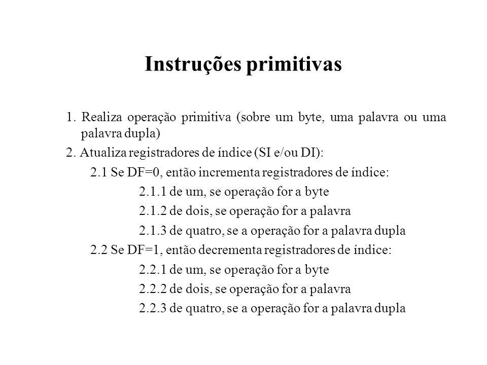 Instruções primitivas 1.