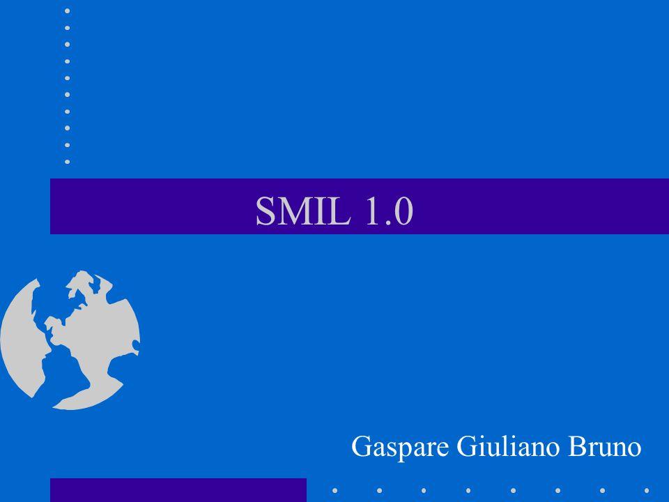 Historico Dec 1995: Towards a Real-Time Multimedia Web, 4th WWW conference, Boston Nov 1997: Primeiro Draft SMIL 1.0 Abr 1998 : W3C Recomendation SMIL 1.0 Jul 1998: Beta G2 da Real suporta SMIL 1.0 Nov 1999: Draft SMIL 2.0 (Boston) Jan 2000: Apple Quicktime 4.1 (SMIL 1) e Internet Explorer 5.5 (XHTML+TIME 2)