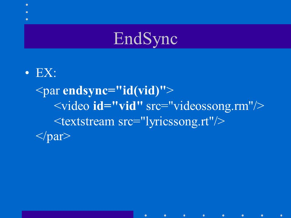 EndSync EX: