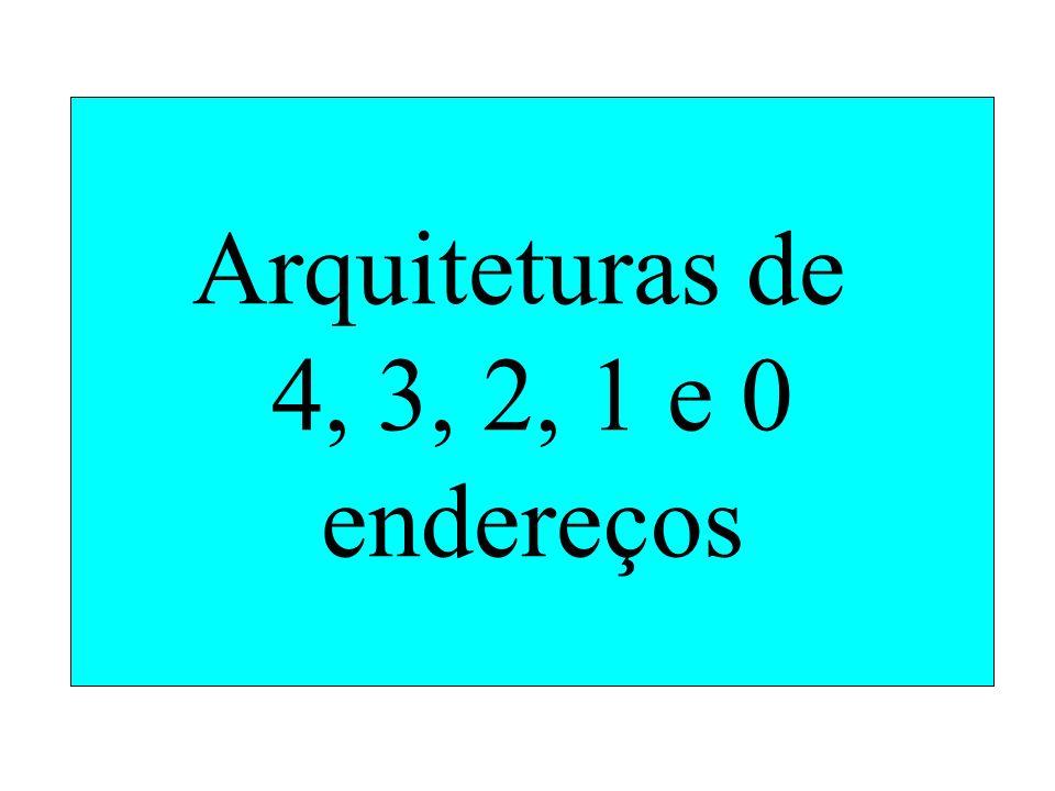 Arquiteturas de 4, 3, 2, 1 e 0 endereços
