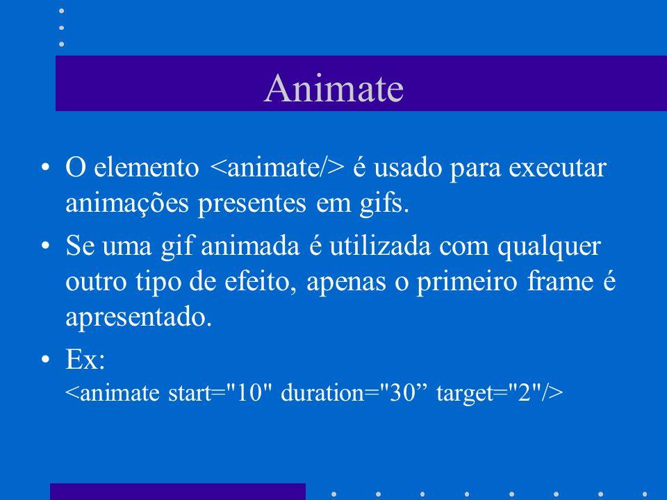 Animate O elemento é usado para executar animações presentes em gifs. Se uma gif animada é utilizada com qualquer outro tipo de efeito, apenas o prime