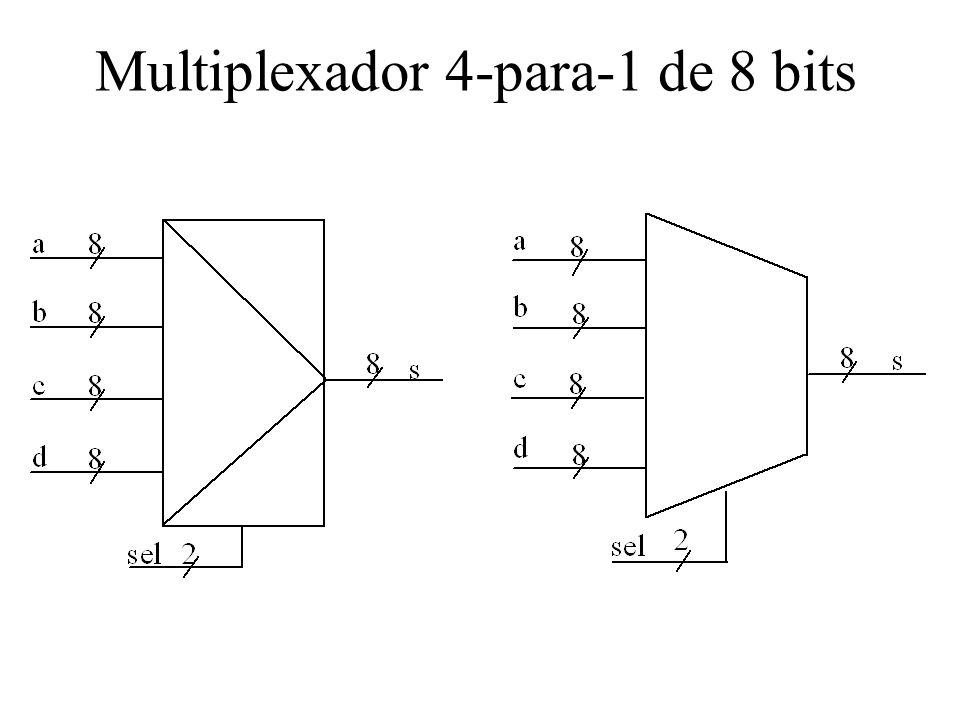 Multiplexador 4-para-1 de 8 bits
