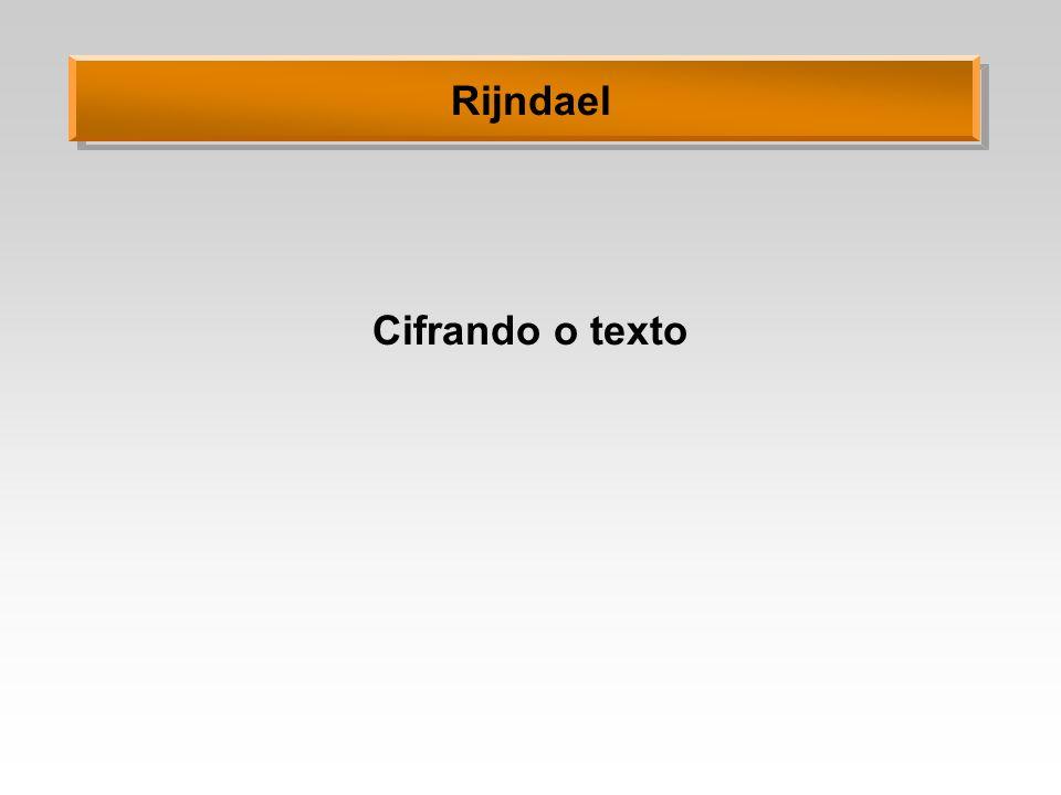 Cifrando o texto Rijndael