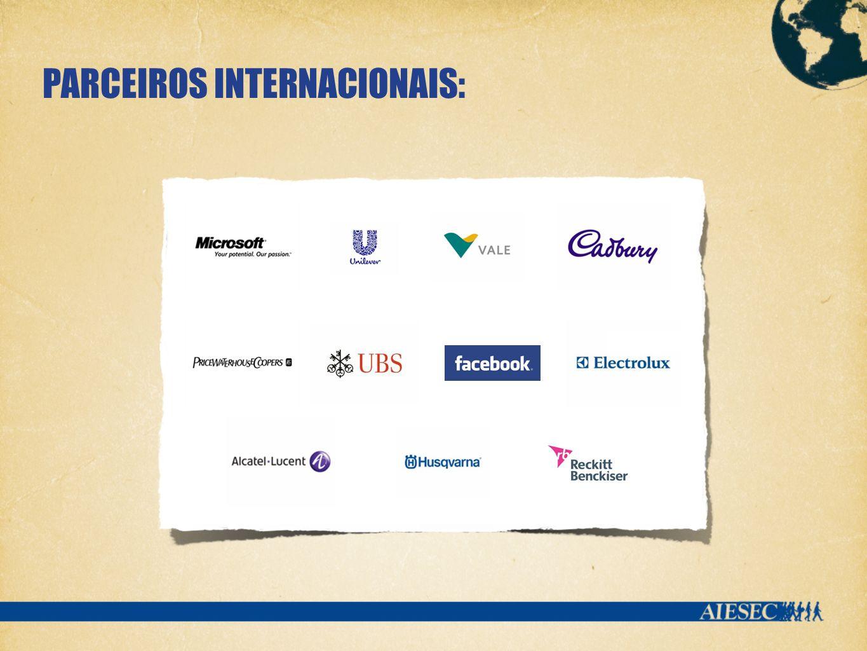 PARCEIROS INTERNACIONAIS: