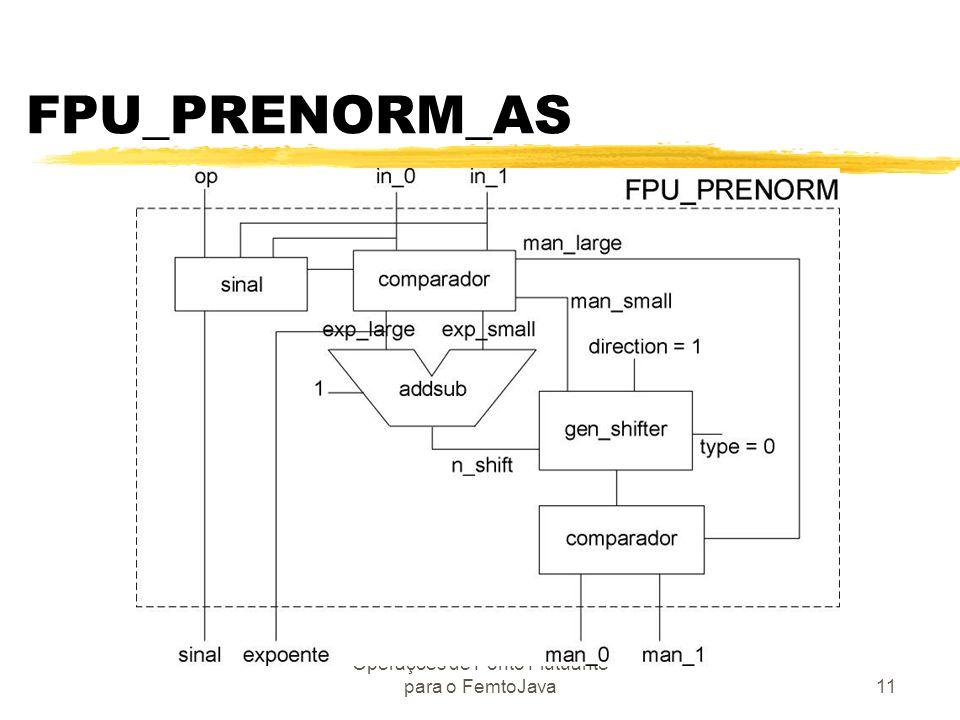 Operações de Ponto Flutuante para o FemtoJava11 FPU_PRENORM_AS