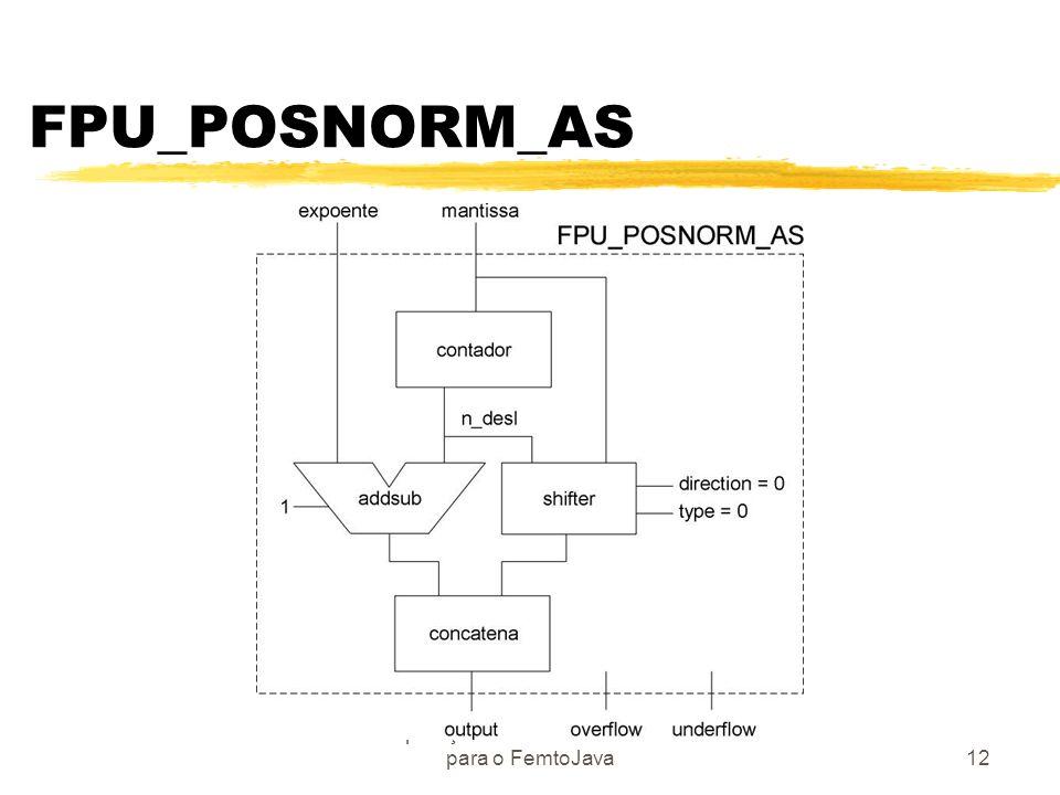 Operações de Ponto Flutuante para o FemtoJava12 FPU_POSNORM_AS