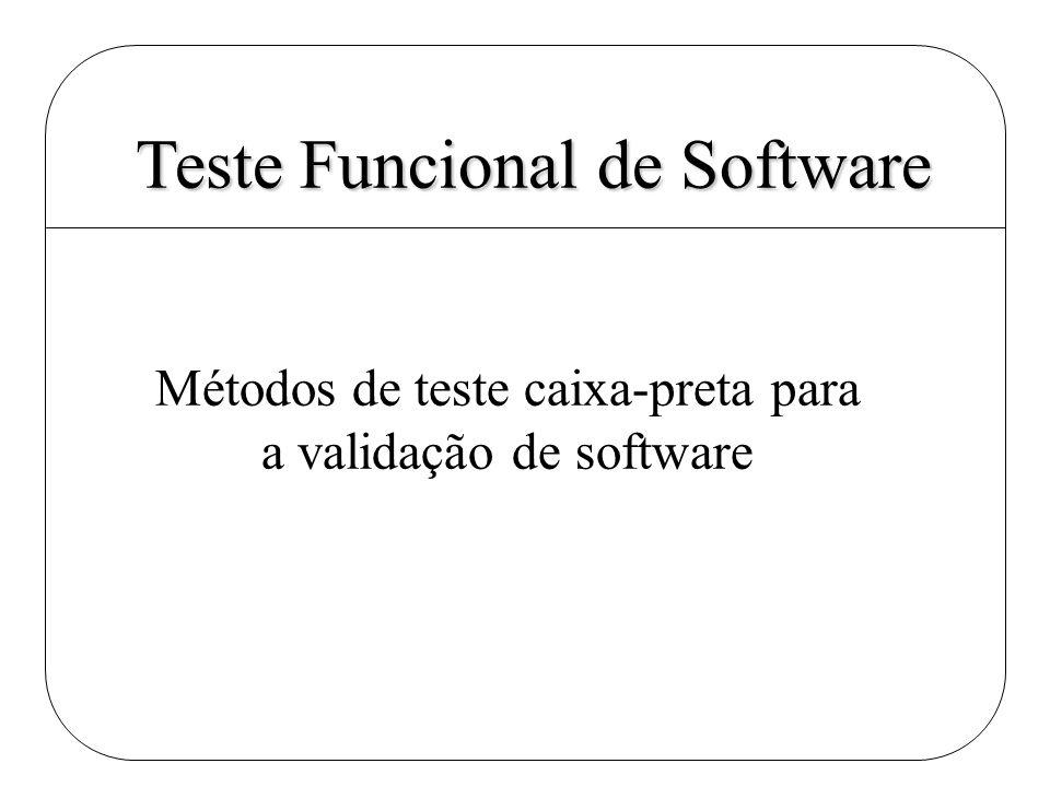 Métodos de teste caixa-preta para a validação de software Teste Funcional de Software