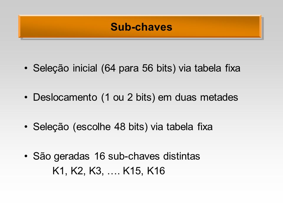Sub-chaves