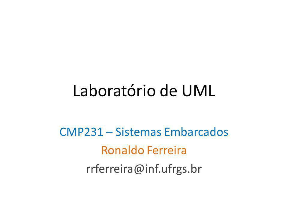 Laboratório de UML CMP231 – Sistemas Embarcados Ronaldo Ferreira rrferreira@inf.ufrgs.br