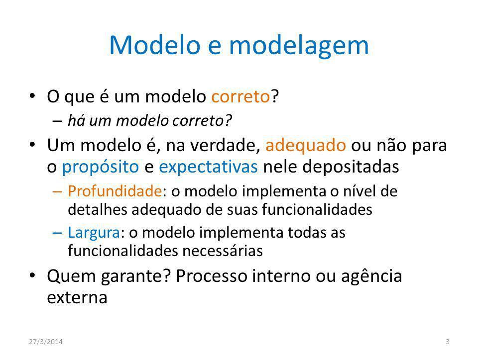Modelo e modelagem O que é um modelo correto.– há um modelo correto.