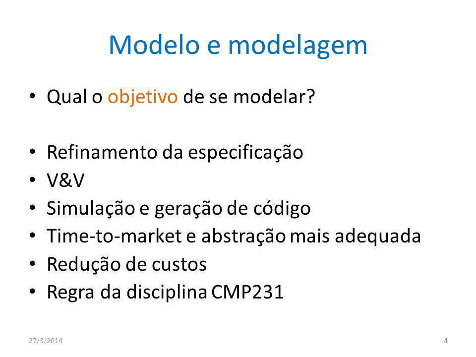 Modelo e modelagem Qual o objetivo de se modelar.