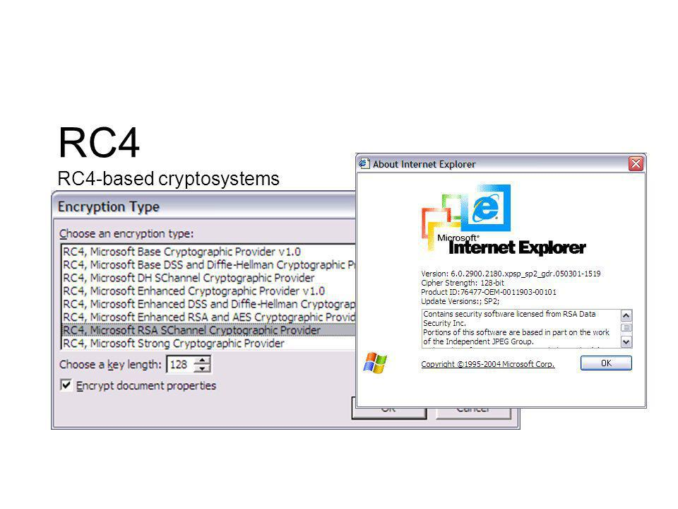 RC4 RC4-based cryptosystems